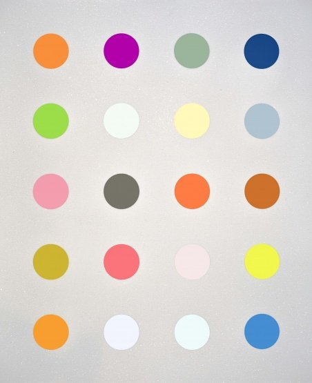 Damien Hirst 3-Methylthymidine White With Diamond Dust