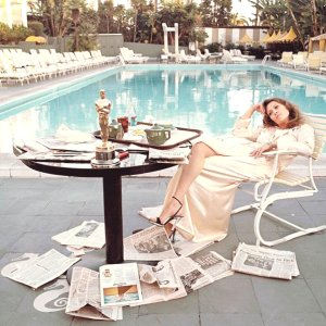 Terry O'Neill Faye Dunaway Beverly Hills - The Morning After The Oscars