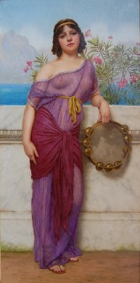 Girl With a Tambourine John William Godward